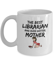 Load image into Gallery viewer, Librarian Mom Mug Best Mother Funny Gift for Mama Novelty Gag Coffee Tea Cup Brown-Coffee Mug