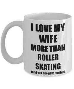 Roller Skating Husband Mug Funny Valentine Gift Idea For My Hubby Lover From Wife Coffee Tea Cup-Coffee Mug