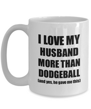Load image into Gallery viewer, Dodgeball Wife Mug Funny Valentine Gift Idea For My Spouse Lover From Husband Coffee Tea Cup-Coffee Mug