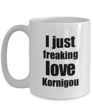 Load image into Gallery viewer, Kornigou Lover Mug I Just Freaking Love Funny Gift Idea For Foodie Coffee Tea Cup-Coffee Mug