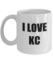 Load image into Gallery viewer, I Love Kc Mug Funny Gift Idea Novelty Gag Coffee Tea Cup-Coffee Mug