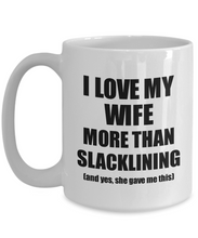 Load image into Gallery viewer, Slacklining Husband Mug Funny Valentine Gift Idea For My Hubby Lover From Wife Coffee Tea Cup-Coffee Mug