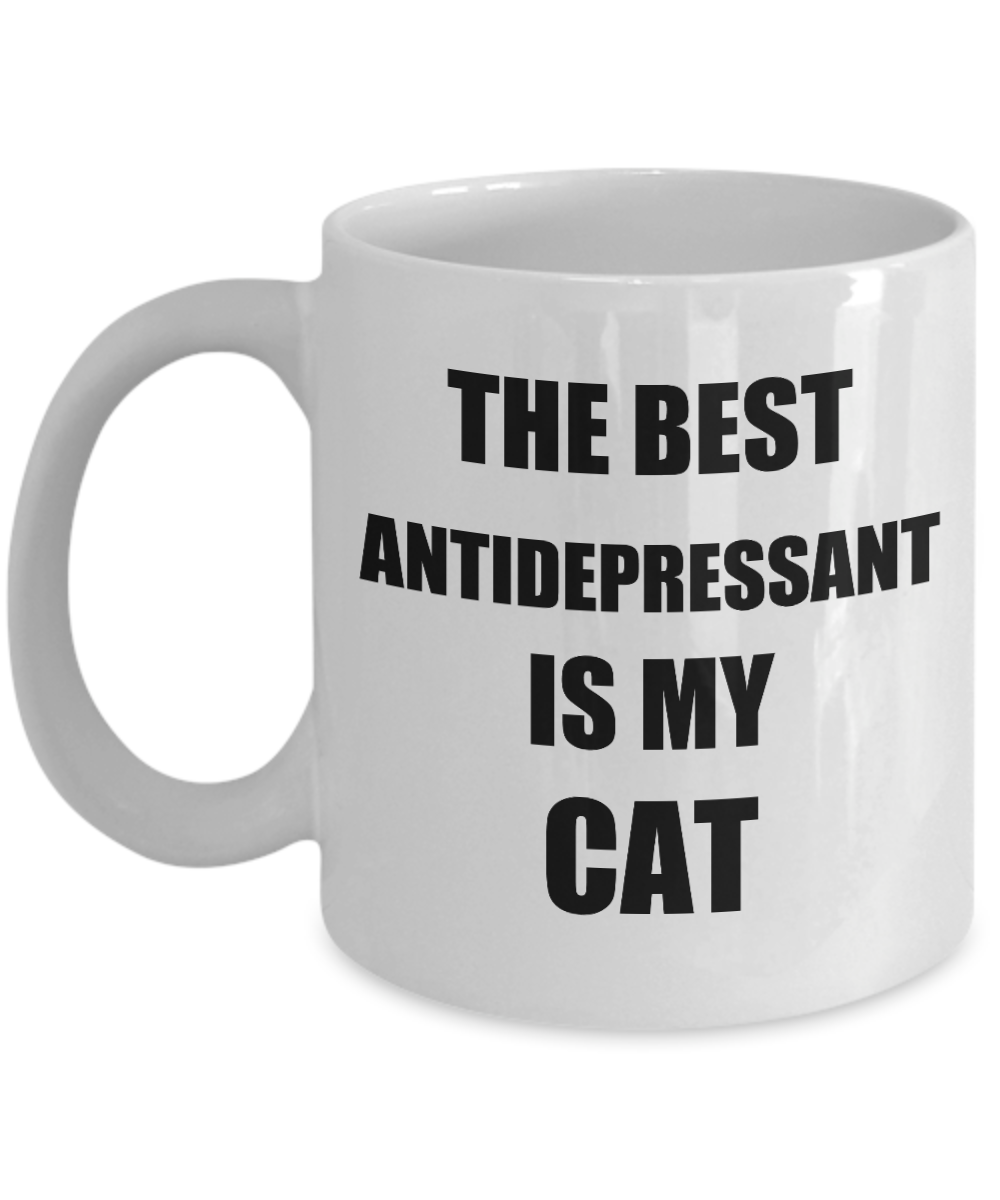 Cat Antidepressant Mug Funny Gift Idea for Novelty Gag Coffee Tea Cup-[style]