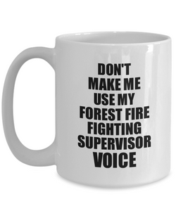 Forest Fire Fighting Supervisor Mug Coworker Gift Idea Funny Gag For Job Coffee Tea Cup Voice-Coffee Mug