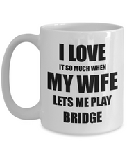 Load image into Gallery viewer, Bridge Mug Funny Gift Idea For Husband I Love It When My Wife Lets Me Novelty Gag Sport Lover Joke Coffee Tea Cup-Coffee Mug