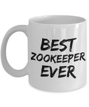 Load image into Gallery viewer, Zookeeper Mug Best Zoo keeper Ever Funny Gift for Coworkers Novelty Gag Coffee Tea Cup-Coffee Mug