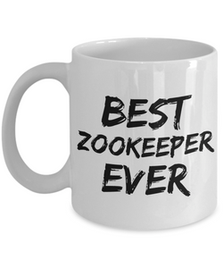 Zookeeper Mug Best Zoo keeper Ever Funny Gift for Coworkers Novelty Gag Coffee Tea Cup-Coffee Mug