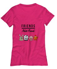 Load image into Gallery viewer, Friends Not Food Cute T-Shirt for Women Funny Vegan Gift Idea Animal Lover Tee-Shirt / Hoodie
