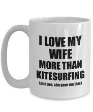 Load image into Gallery viewer, Kitesurfing Husband Mug Funny Valentine Gift Idea For My Hubby Lover From Wife Coffee Tea Cup-Coffee Mug