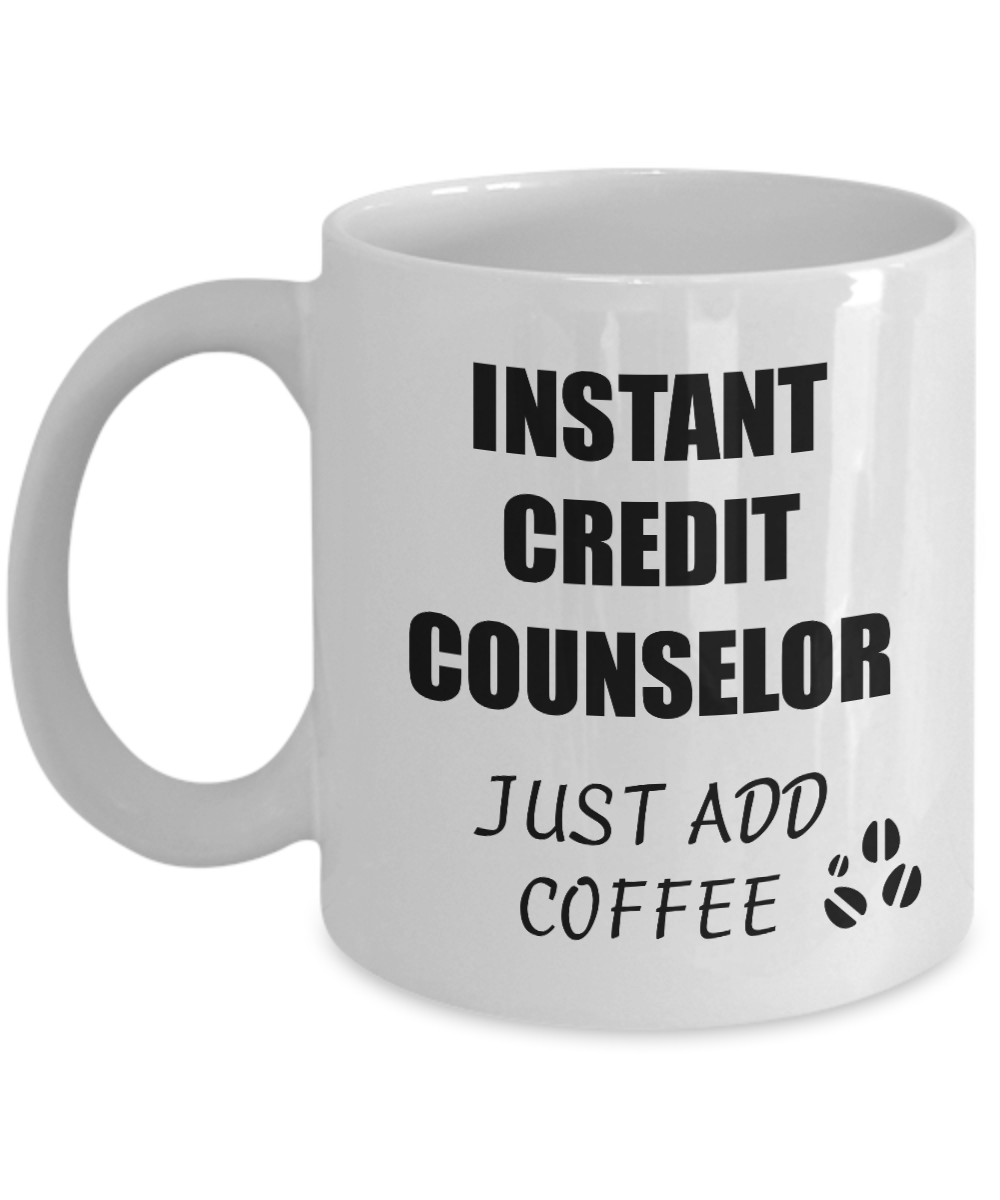 Credit Counselor Mug Instant Just Add Coffee Funny Gift Idea for Corworker Present Workplace Joke Office Tea Cup-Coffee Mug