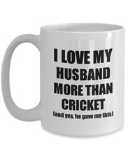 Load image into Gallery viewer, Cricket Wife Mug Funny Valentine Gift Idea For My Spouse Lover From Husband Coffee Tea Cup-Coffee Mug