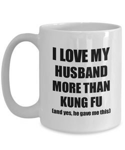 Kung Fu Wife Mug Funny Valentine Gift Idea For My Spouse Lover From Husband Coffee Tea Cup-Coffee Mug