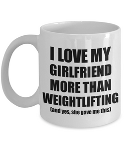 Weightlifting Boyfriend Mug Funny Valentine Gift Idea For My Bf Lover From Girlfriend Coffee Tea Cup-Coffee Mug