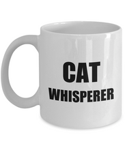 Load image into Gallery viewer, Cat Whisperer Mug Funny Gift Idea for Novelty Gag Coffee Tea Cup-Coffee Mug