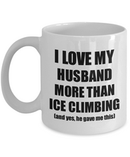 Load image into Gallery viewer, Ice Climbing Wife Mug Funny Valentine Gift Idea For My Spouse Lover From Husband Coffee Tea Cup-Coffee Mug