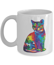 Load image into Gallery viewer, 3d Lightning Cat Rainbow Mug Funny Gift Idea for Novelty Gag Coffee Tea Cup-[style]