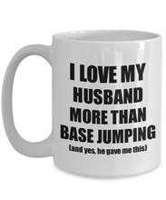 Load image into Gallery viewer, Base Jumping Wife Mug Funny Valentine Gift Idea For My Spouse Lover From Husband Coffee Tea Cup-Coffee Mug