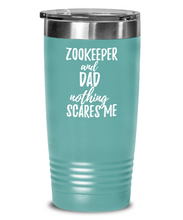 Load image into Gallery viewer, Funny Zookeeper Dad Tumbler Gift Idea for Father Gag Joke Nothing Scares Me Coffee Tea Insulated Cup With Lid-Tumbler
