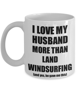 Land Windsurfing Wife Mug Funny Valentine Gift Idea For My Spouse Lover From Husband Coffee Tea Cup-Coffee Mug