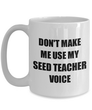 Load image into Gallery viewer, Seed Teacher Mug Coworker Gift Idea Funny Gag For Job Coffee Tea Cup-Coffee Mug
