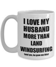 Load image into Gallery viewer, Land Windsurfing Wife Mug Funny Valentine Gift Idea For My Spouse Lover From Husband Coffee Tea Cup-Coffee Mug