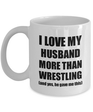 Load image into Gallery viewer, Wrestling Wife Mug Funny Valentine Gift Idea For My Spouse Lover From Husband Coffee Tea Cup-Coffee Mug