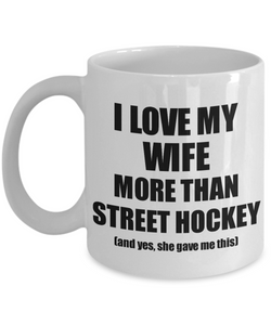 Street Hockey Husband Mug Funny Valentine Gift Idea For My Hubby Lover From Wife Coffee Tea Cup-Coffee Mug