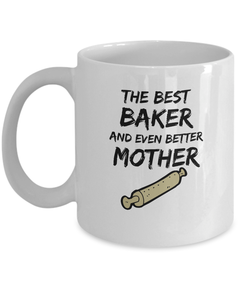 Funny Baker Mom Mug Best Mother Funny Gift Coffee Cup-Coffee Mug