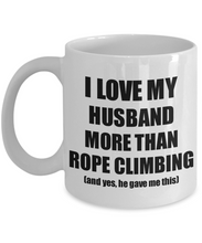 Load image into Gallery viewer, Rope Climbing Wife Mug Funny Valentine Gift Idea For My Spouse Lover From Husband Coffee Tea Cup-Coffee Mug