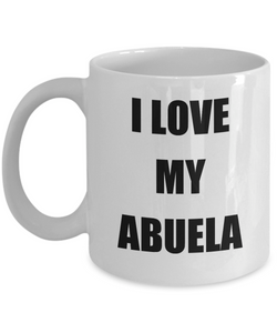 I Love My Abuela Mug Funny Gift Idea Novelty Gag Coffee Tea Cup-Coffee Mug