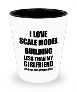 Scale Model Building Boyfriend Shot Glass Funny Valentine Gift Idea For My Bf From Girlfriend I Love Liquor Lover Alcohol 1.5 oz Shotglass-Shot Glass