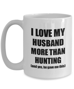 Hunting Wife Mug Funny Valentine Gift Idea For My Spouse Lover From Husband Coffee Tea Cup-Coffee Mug