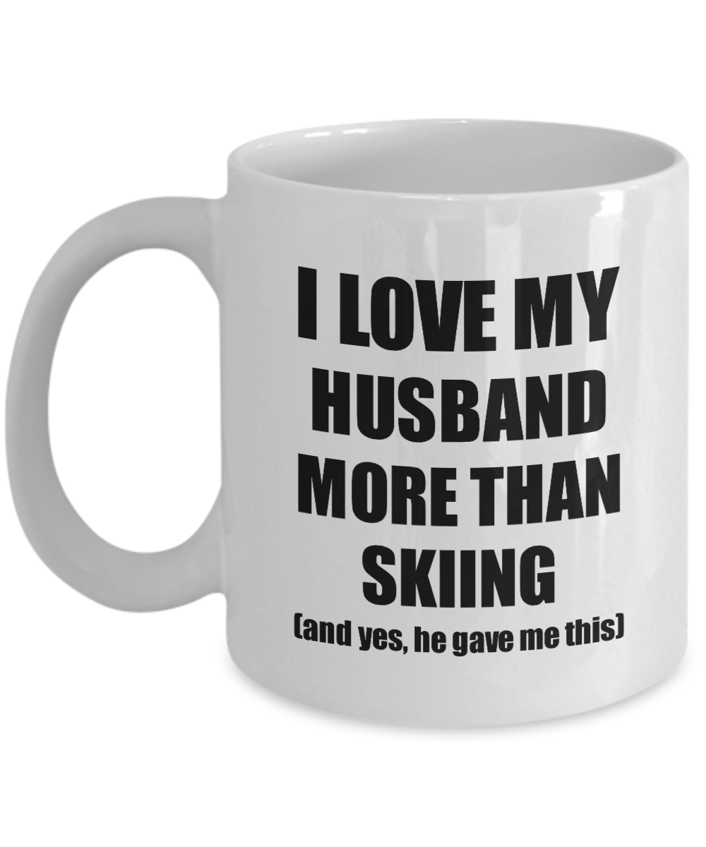 Skiing Wife Mug Funny Valentine Gift Idea For My Spouse Lover From Husband Coffee Tea Cup-Coffee Mug
