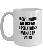 Load image into Gallery viewer, Operations Manager Mug Coworker Gift Idea Funny Gag For Job Coffee Tea Cup-Coffee Mug