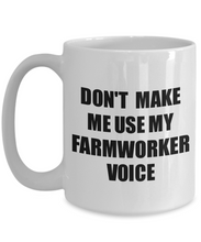 Load image into Gallery viewer, Farmworker Mug Coworker Gift Idea Funny Gag For Job Coffee Tea Cup Voice-Coffee Mug