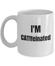 Load image into Gallery viewer, Catffeinated Cat Mug Funny Gift Idea for Novelty Gag Coffee Tea Cup-[style]