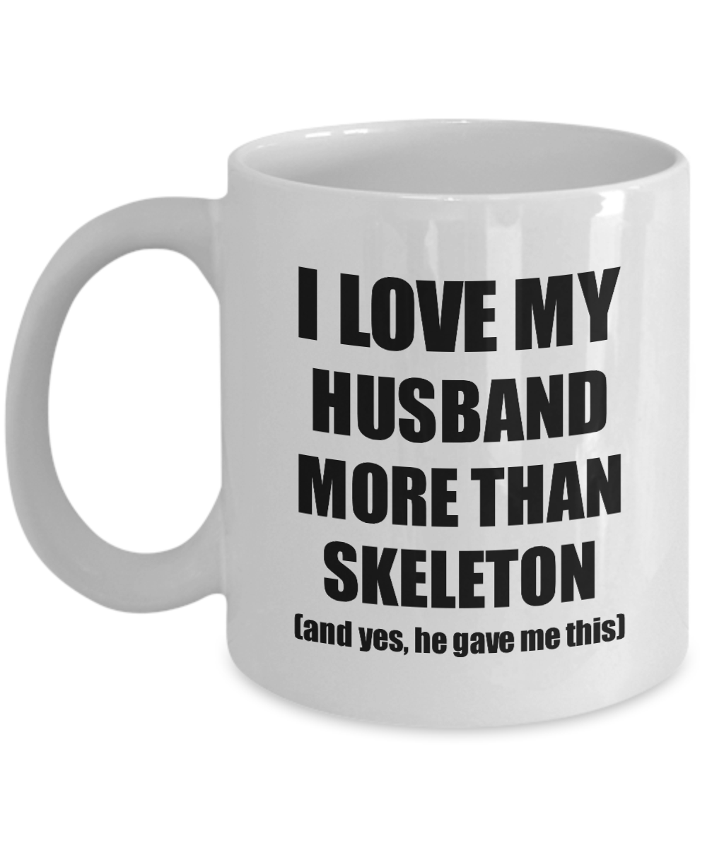 Skeleton Wife Mug Funny Valentine Gift Idea For My Spouse Lover From Husband Coffee Tea Cup-Coffee Mug