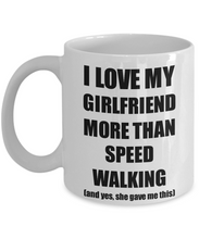 Load image into Gallery viewer, Speed Walking Boyfriend Mug Funny Valentine Gift Idea For My Bf Lover From Girlfriend Coffee Tea Cup-Coffee Mug