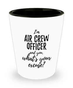 Air Crew Officer Shot Glass What's Your Excuse Funny Gift Idea for Coworker Hilarious Office Gag Job Joke Alcohol Lover 1.5 oz-Shot Glass