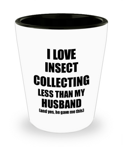Insect Collecting Wife Shot Glass Funny Valentine Gift Idea For My Spouse From Husband I Love Liquor Lover Alcohol 1.5 oz Shotglass-Shot Glass