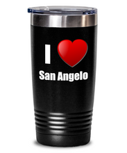 Load image into Gallery viewer, I Love San Angelo Tumbler City Lover Pride Funny Gift Insulated Lid Coffee Tea Cup-Tumbler