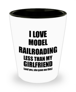 Model Railroading Boyfriend Shot Glass Funny Valentine Gift Idea For My Bf From Girlfriend I Love Liquor Lover Alcohol 1.5 oz Shotglass-Shot Glass