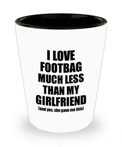 Footbag Boyfriend Shot Glass Funny Valentine Gift Idea For My Bf From Girlfriend I Love Liquor Lover Alcohol 1.5 oz Shotglass-Shot Glass