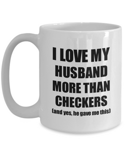 Checkers Wife Mug Funny Valentine Gift Idea For My Spouse Lover From Husband Coffee Tea Cup-Coffee Mug
