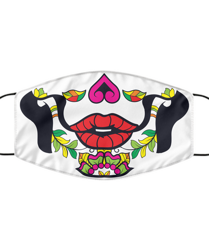 Calavera Face Mask For Her Day Of The Death Women Pink Mouth Nose Cover Washable Reusable-Mask