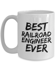Load image into Gallery viewer, Railroad Engineer Mug Best Rail Road Ever Funny Gift for Coworkers Novelty Gag Coffee Tea Cup-Coffee Mug