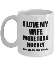 Load image into Gallery viewer, Hockey Husband Mug Funny Valentine Gift Idea For My Hubby Lover From Wife Coffee Tea Cup-Coffee Mug