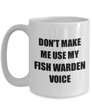 Load image into Gallery viewer, Fish Warden Mug Coworker Gift Idea Funny Gag For Job Coffee Tea Cup-Coffee Mug
