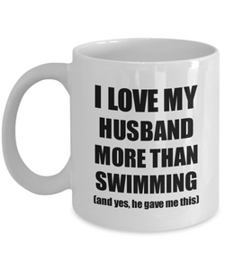 Swimming Wife Mug Funny Valentine Gift Idea For My Spouse Lover From Husband Coffee Tea Cup-Coffee Mug