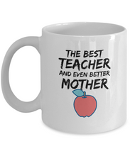 Load image into Gallery viewer, Teacher Mom Mug Best Mother Funny Gift for Mama Novelty Gag Coffee Tea Cup-Coffee Mug